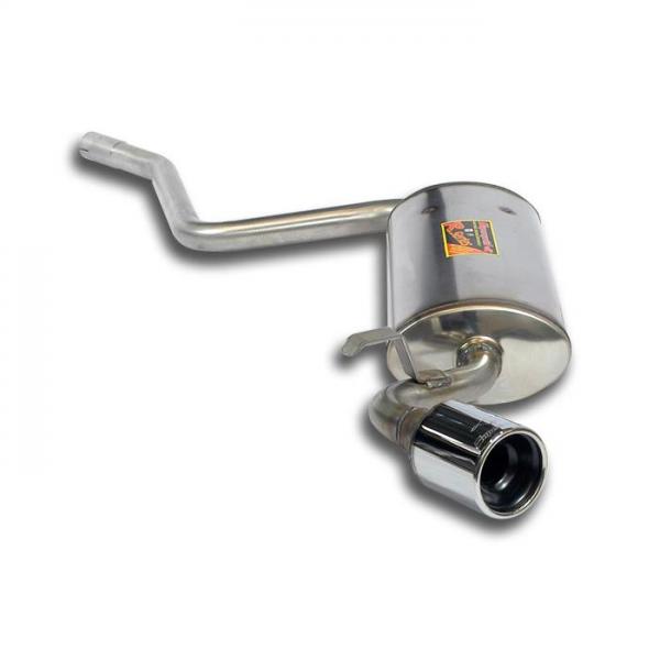 Supersprint Endschalldämpfer O80 Edelstahl AISI 409 für FIAT SEICENTO Sporting 1.1 FIRE 98-