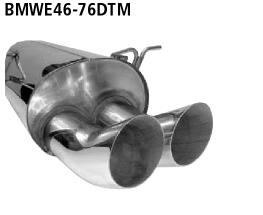 Bastuck Endschalldämpfer DTM mit Doppel-Endrohr 2 x Ø 76 mm BMW Typ: 320i / 323i / 328i bis Bj. 05/2000