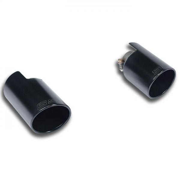 Supersprint Endrohrsatz Rechts O100 - Links O100 Black für FIAT 500T Mod. USA (135 PS) 2015-