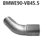 Bastuck Verbindungsrohr Endschalldämpfer auf Serie auf 45,5 mm für BMW 318i / 320i / 320si bis Bj. 02/2007 Limousine(E90), Touring(E91)