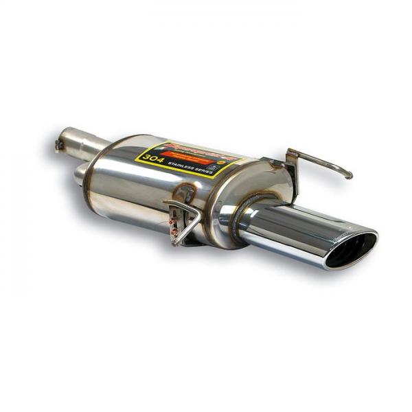 Supersprint Endschalldämpfer 145 x 95 für MERCEDES W203 (Limo + S.W.) C 200 K (1.8L. / 163 PS) 03-
