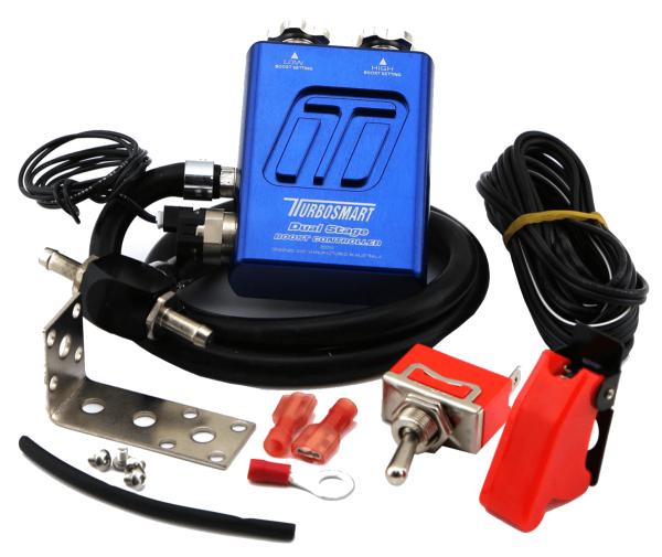 Turbosmart Dual Stage V2 manuelles Ladedruck Regelventil - blau