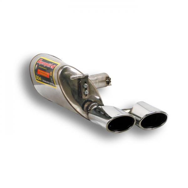 Supersprint Endschalldämpfer Links 120x80 für MERCEDES W211 E 280 V6 (4v) (Limo + S.W.) 06-09