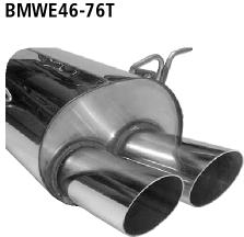 Bastuck Endschalldämpfer mit Doppel-Endrohr 2 x Ø 76 mm BMW Typ: 316i / 318i