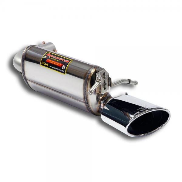Supersprint Endschalldämpfer Links Racing 145x95 für MERCEDES A207 E 350 CDI Cabrio (231 PS/265 PS) 2009- 2013