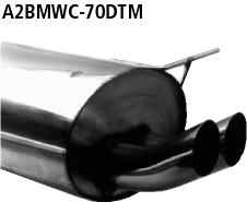 Bastuck Endschalldämpfer DTM mit Doppel-Endrohr 2 x Ø 70 mm 318ti Compact BMW