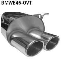 Bastuck Endschalldämpfer mit Doppel-Endrohr oval 2 x 89 x 77 mm BMW Typ: 320i / 323i / 328i bis Bj. 05/2000