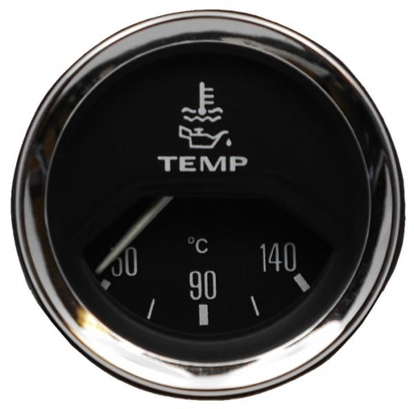 Oldtimer Instrumente - Temperaturanzeige, elektrisch mit Chromrad