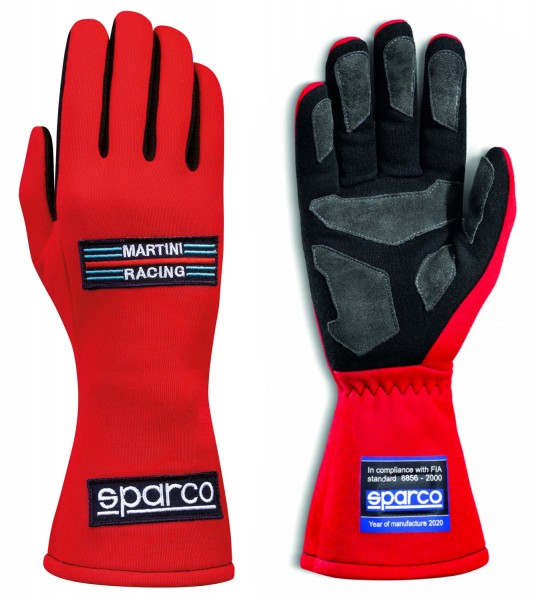 Sparco Handschuh Martini Racing - rot