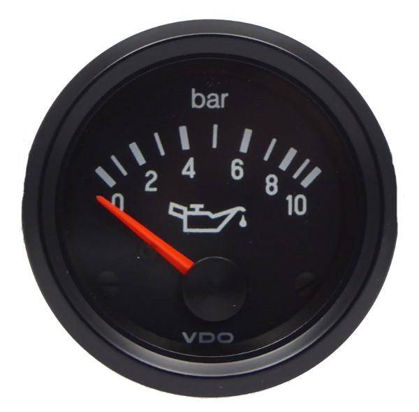 "VDO ""international"" Öldruckanzeige 24V d=52mm bis 10 bar"