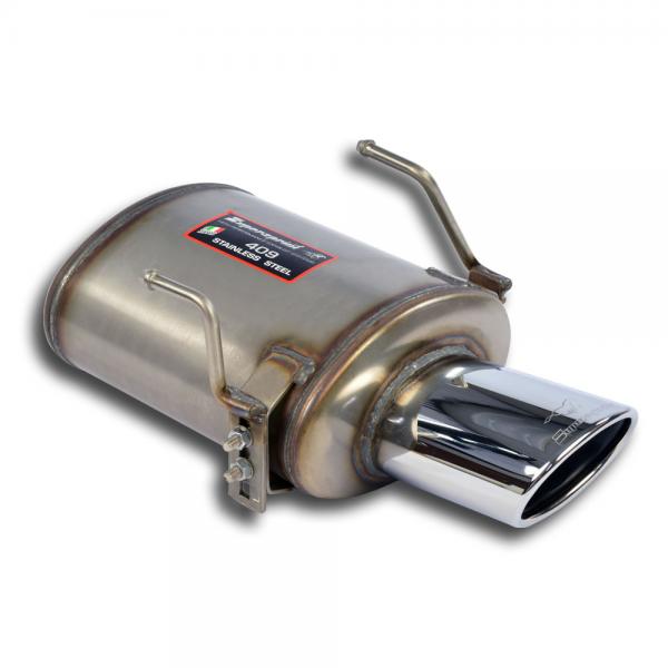 Supersprint Endschalldämpfer 120x80 Edelstahl AISI 409 für FIAT 500 0.9 Twinair Turbo (85 PS) 2010-