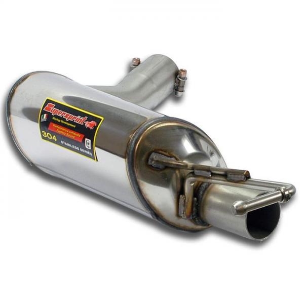 Supersprint Endschalldämpfer Links Racing für MERCEDES W212 E 500/550 V8 (Limo + S.W.) (388 PS) 2009- 2011