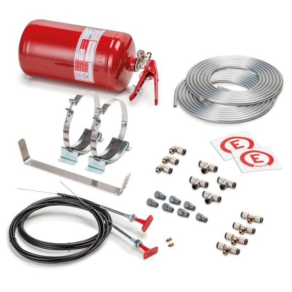 Sparco Feuerlöschanlage Stahl 4.25 Liter für Sport-, Touren- und Rallywagen - mechanisch