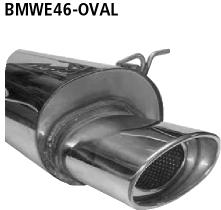 Bastuck Endschalldämpfer mit Einfach-Endrohr oval 153 x 95 mm BMW Typ: 316i / 318i