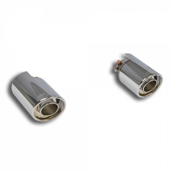 Supersprint Endrohrsatz BACKFIRE Rechts O100 - Links O100 für FIAT 500T Mod. USA (135 PS) 2015-