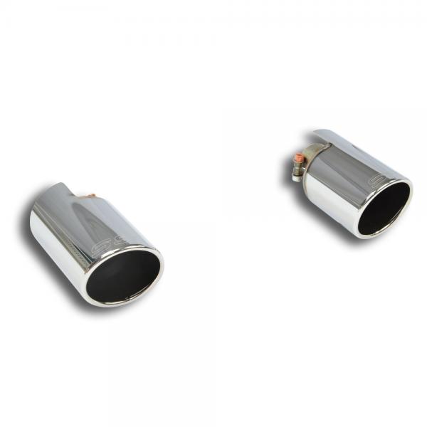 Supersprint Endrohrsatz Rechts O100 - Links O100 für FIAT 500T Mod. USA (135 PS) 2015-