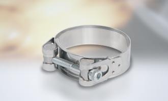 Powersprint Construct Edelstahl Spezial-Bandschelle Ø 52 mm - 55 mm