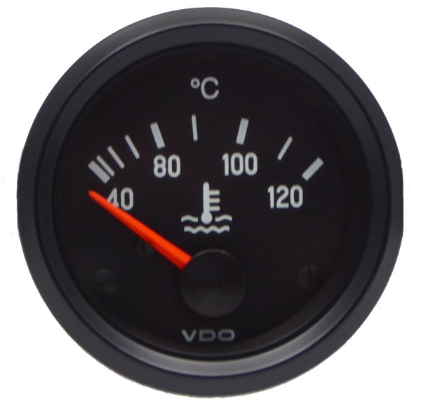 "VDO ""international"" Kühlwasserthermometeranzeige 24V d=52mm 40°-120°C"