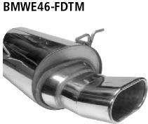 Bastuck Endschalldämpfer DTM mit Einfach-Endrohr Flat 135 x 80 mm BMW Typ: 318d / 320d