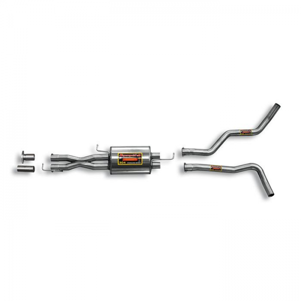 Supersprint Mittelschalldämpfer Rechts - Links + X-Pipe für RANGE ROVER SPORT 5.0i V8 (Motore FORD - 375 PS) 2010- 2013