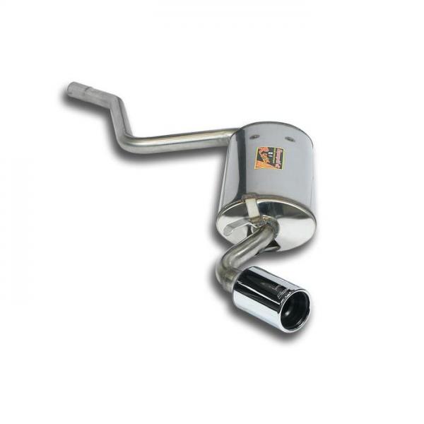 Supersprint Endschalldämpfer O76 Edelstahl AISI 409 für FIAT CINQUECENTO 900 cc 92- 97