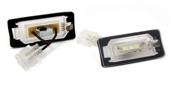 devil eyes LED Kennzeichenbeleuchtung für Audi A1 / S1 Typ X1 (Bj.2010-)