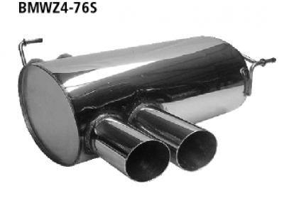 Bastuck Endschalldämpfer mit Doppel-Endrohr Slash 2 x Ø 76 mm BMW Typ: Z4 Roadster bis 12/05