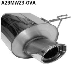 Bastuck Endschalldämpfer mit Einfach-Endrohr oval 153 x 95 mm BMW Typ: Z3 Roadster / Coupé 2,8l bis Bj. 08/98