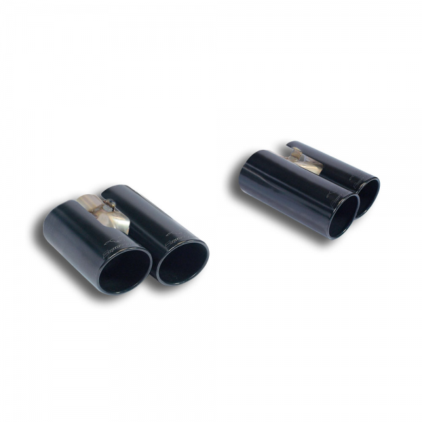 Supersprint Endrohrsatz BLACK Rechts OO100 +Links OO100 für HONDA CIVIC 2.0i Turbo TYPE-R (310PS) 2015-