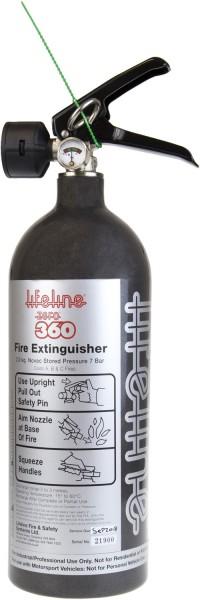 Lifeline Zero 360 Handlöscher Stahl 2 kg Novec Löschmittel