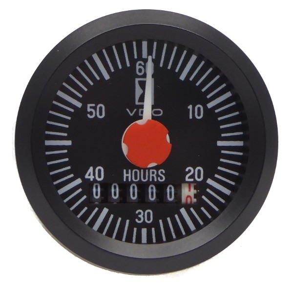 """VDO """"international"""" Betriebsstundenzähler mit Minutenanzeige d=52mm"""
