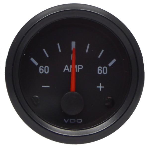 "VDO ""international"" Amperemeter 24V d=52mm 60-0-60 A"