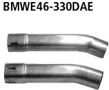 Bastuck Adaptersatz Endschalldämpfer auf Serienanlage BMW Typ: 330d (120+135 KW)
