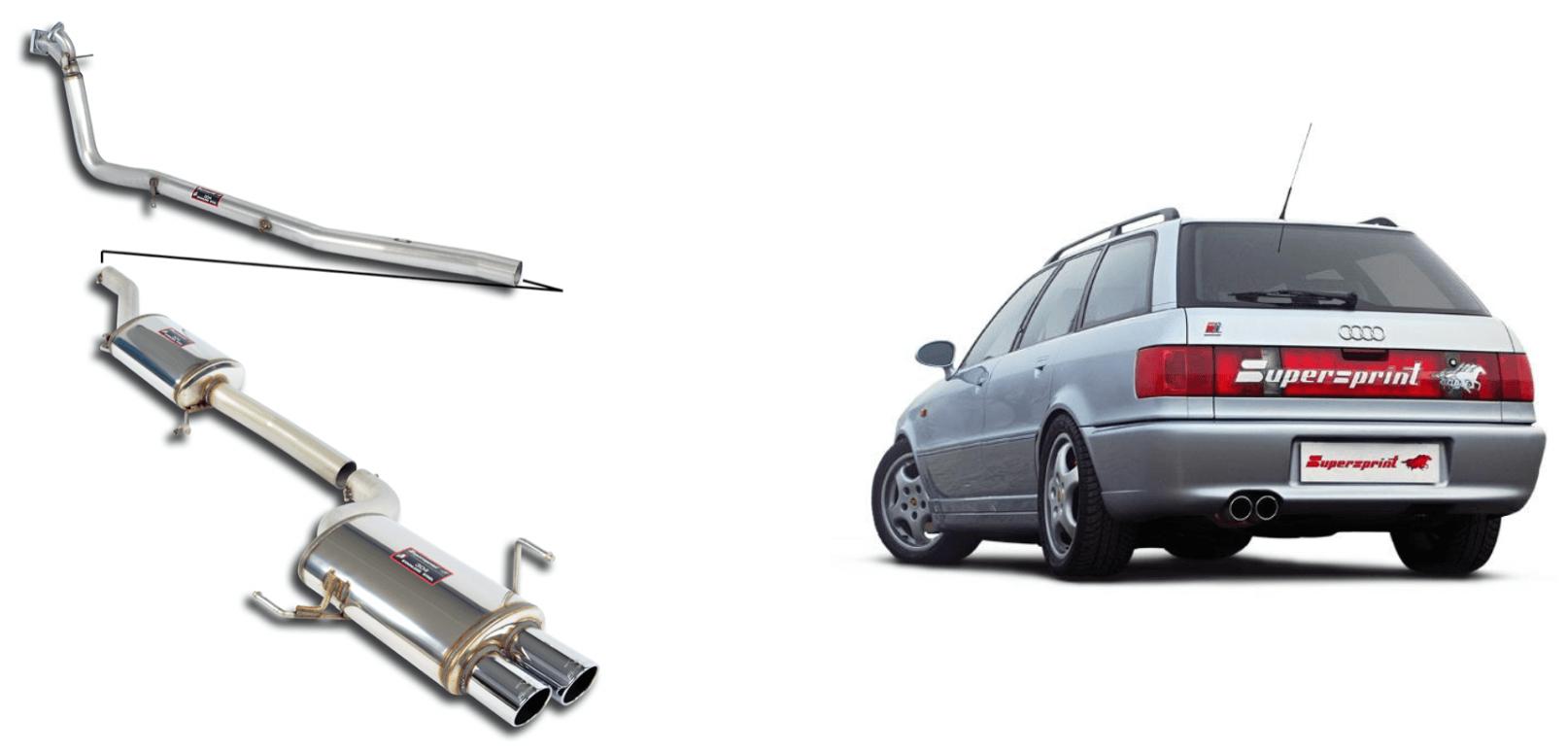 AUDI-RS2-Avant-2-2i-Turbo-Quattro-supersprint-auspuffanlage