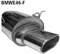 Bastuck Endschalldämpfer mit Einfach-Endrohr Flat 135 x 75 mm BMW Typ: 318d / 320d