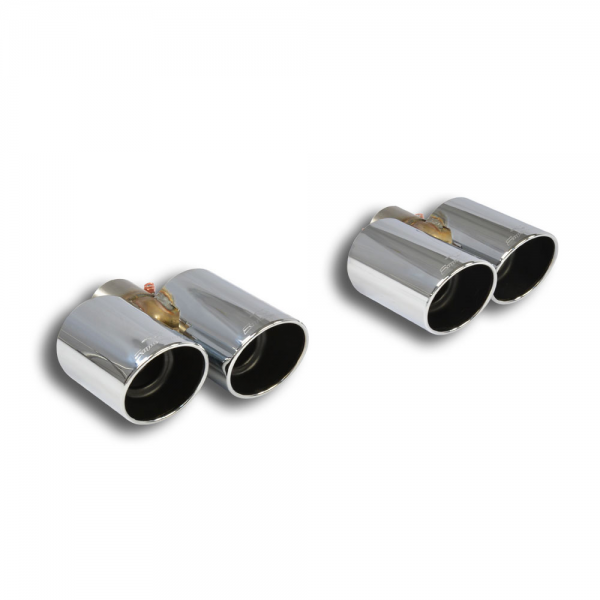 Supersprint Endrohrsatz Rechts OO100 +Links OO100 für HONDA CIVIC 2.0i Turbo TYPE-R (310PS) 2015-