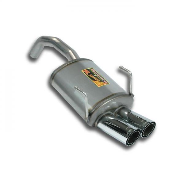 Supersprint Endschalldämpfer OO 70 Edelstahl AISI 409 für FIAT 500 1.4i 16V Mod. USA (101 PS) 09-