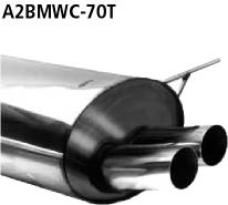Bastuck Endschalldämpfer mit Doppel-Endrohr 2 x Ø 70 mm BMW Typ: 323ti Compact