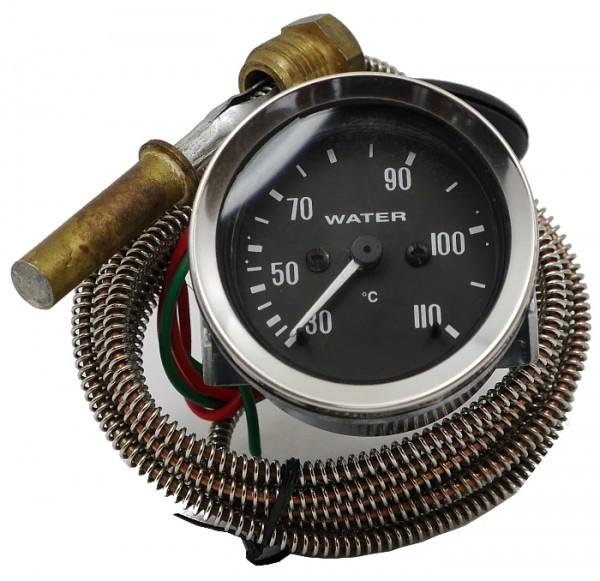 Oldtimer Zusatzinstrumente - mechanische Kühlwasseranzeige 30°C - 110°C