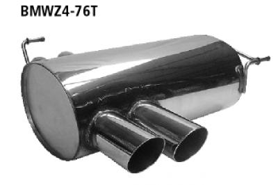 Bastuck Endschalldämpfer mit Doppel-Endrohr 2 x Ø 76 mm BMW Typ: Z4 Roadster bis 12/05