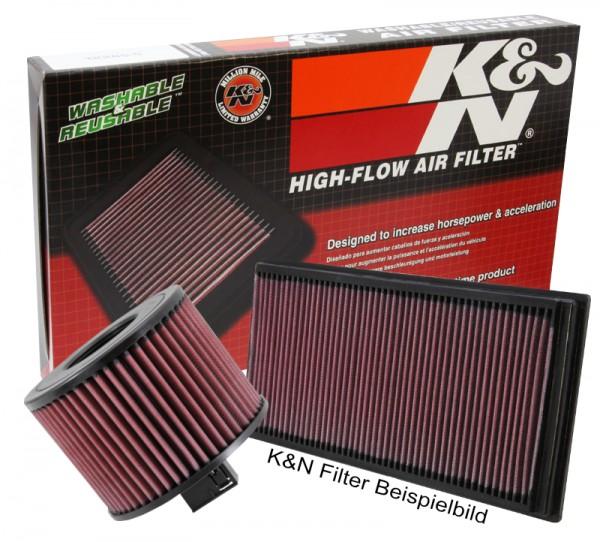 K&N Sportluftfilter für VW Golf V (1K) / Golf Plus (5M) 1.4i 80 PS Bj. 6/06-9/09