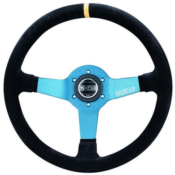 Sparco Sportlenkrad R345 / Monza - Wildleder/blau