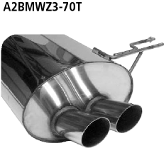 Bastuck Endschalldämpfer mit Doppel-Endrohr 2 x Ø 70 mm BMW Typ: Z3 Roadster / Coupé 6 Zyl. ab 08/98