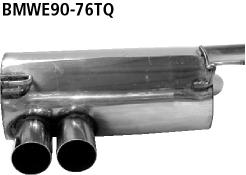 Bastuck Endschalldämpfer mit Doppel-Endrohr LH für BMW 318i / 320i / 320si ab Bj. 02/2007 Limousine(E90), Touring(E91)
