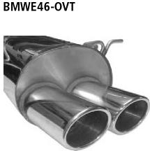 Bastuck Endschalldämpfer mit Doppel-Endrohr oval 2 x 89 x 77 mm BMW Typ: 316i / 318i