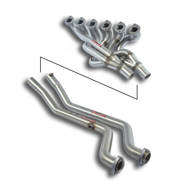 Supersprint Fächerkrümmer + Verbindungsrohre - (Left Hand Drive) für BMW E28 535i (M30) Kat. 10/ 84- 87 (Mod.USA)