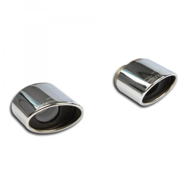 Supersprint Endrohrsatz Rechts - Links 150x105 für JEEP GRAND CHEROKEE SRT8 (6.4i V8 468PS) 2012-