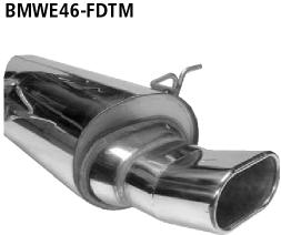 Bastuck Endschalldämpfer DTM mit Einfach-Endrohr Flat 135 x 80 mm BMW Typ: 316i / 318i