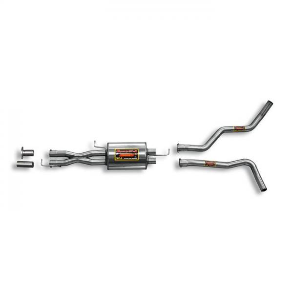 Supersprint Mittelschalldämpfer Rechts - Links + X-Pipe. für RANGE ROVER SPORT 4.2i V8 Supercharged (Motore FORD) 05- 09