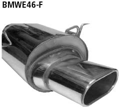 Bastuck Endschalldämpfer mit Einfach-Endrohr Flat 135 x 75 mm BMW Typ: 316i / 318i